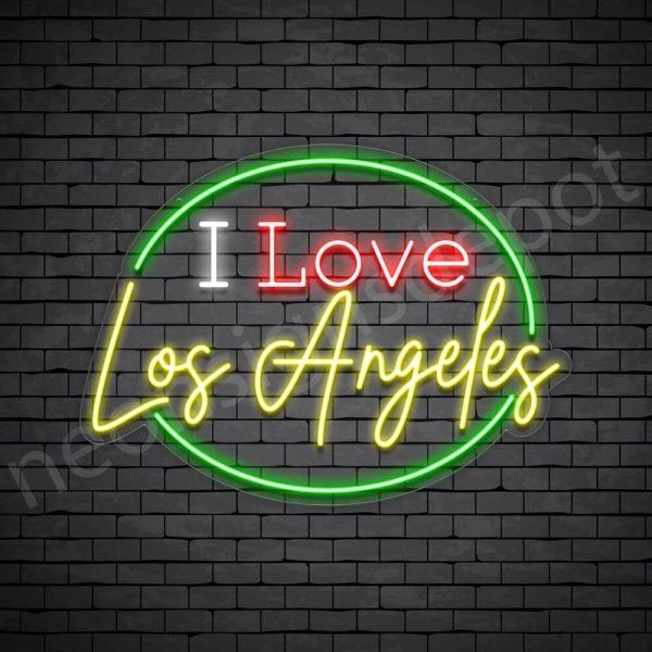 I Love Los Angeles Neon Sign - Transparent