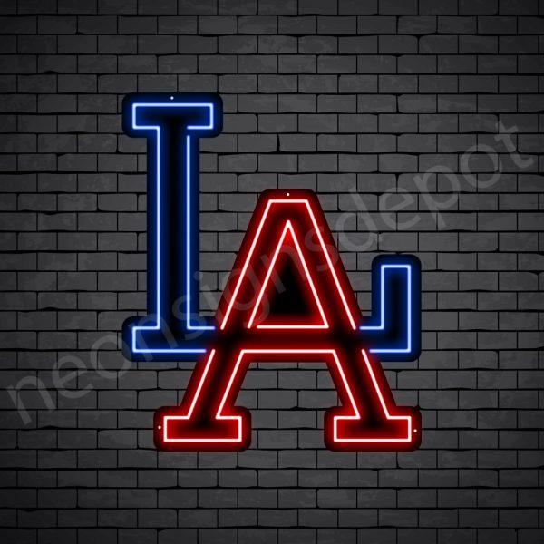 LA Letters Neon Sign - Black
