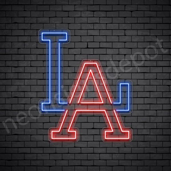 LA Letters Neon Sign - Transparent