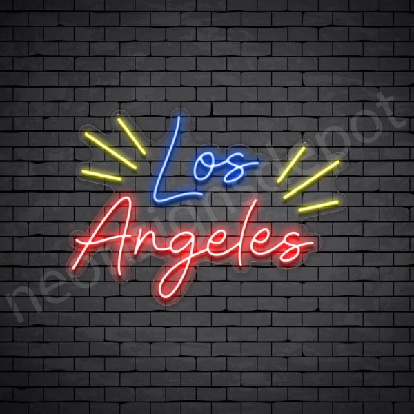 Los Angeles Rays Neon Sign - Transparent