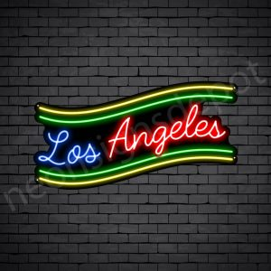 Los Angeles Slant Neon Sign - Black