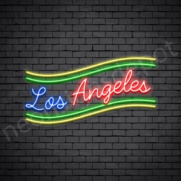Los Angeles Slant Neon Sign - Transparent