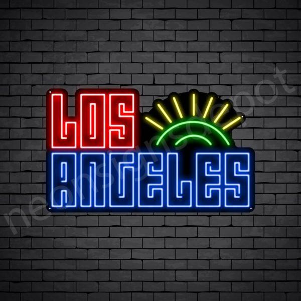 Los Angeles Sun Neon Sign - Black
