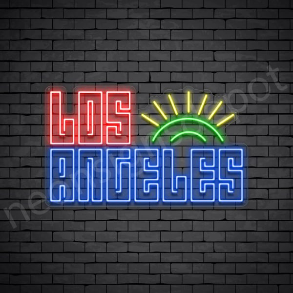 Los Angeles Sun Neon Sign - Transparent