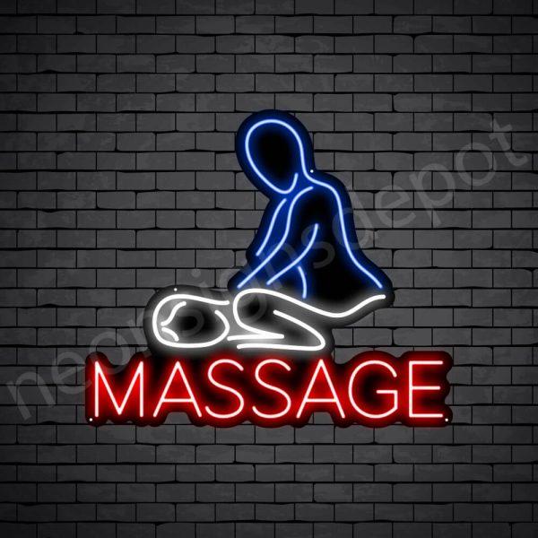 Massage Neon Sign - Black