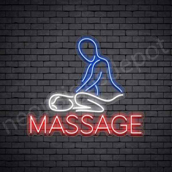 Massage Neon Sign - Transparent