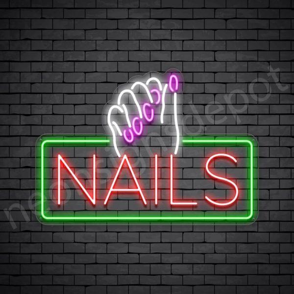 Nails Neon Sign - Transparent