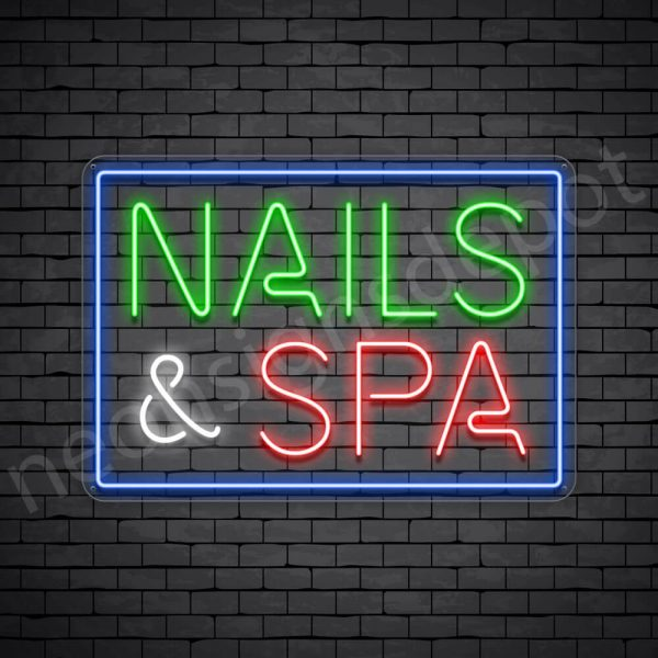 Nails & Spa Neon Sign - Transparent