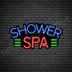 Shower Spa Neon Sign - Black