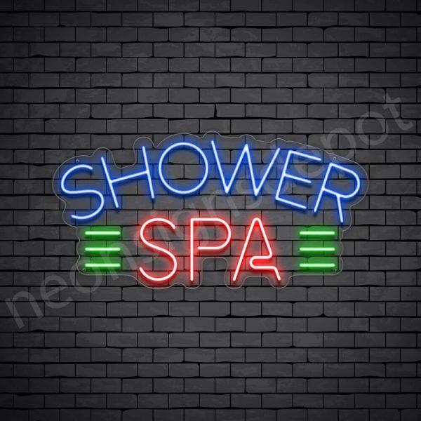 Shower Spa Neon Sign - Transparent