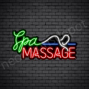 Spa Massage Neon Sign - Black