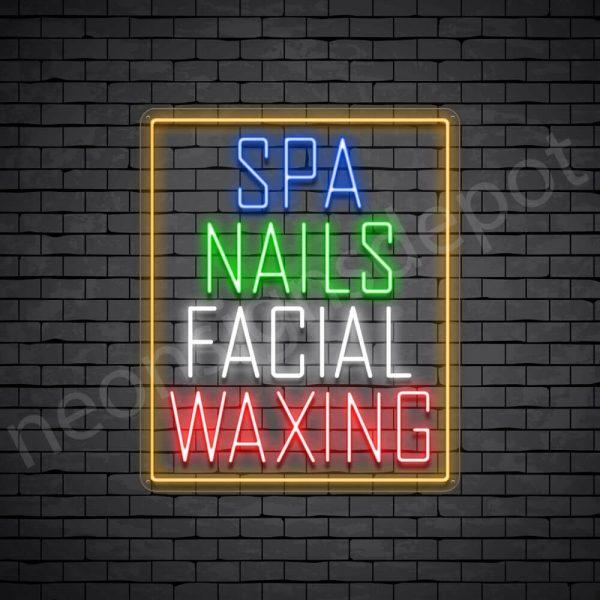 Spa Nails Facial Waxing Neon Sign - Transparent