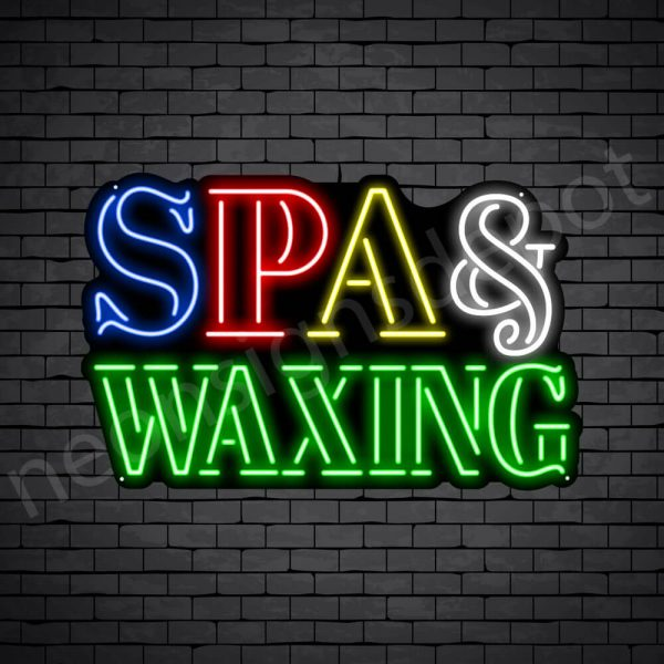 Spa & Waxing Neon Sign - Black