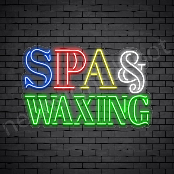 Spa & Waxing Neon Sign - Transparent