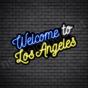 Welcome to Los Angeles Neon Sign - Black
