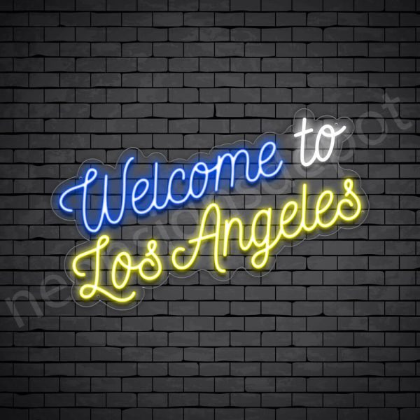 Welcome to Los Angeles Neon Sign - Transparent