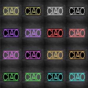 Ciao Horizontal Neon Sign
