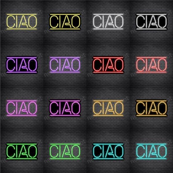Ciao Horizontal Neon Sign