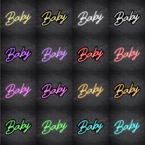 Baby Slant Neon Sign