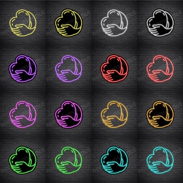 Heart Hand Neon Sign