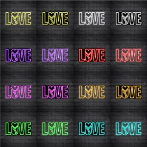 Love Flower Neon Sign