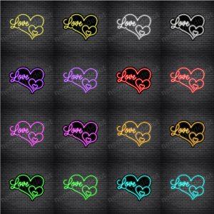 OL Love Heart Shape Neon Sign