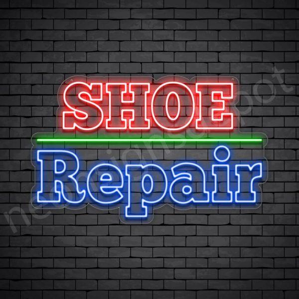 OL Shoe Repair Neon Sign - Transparent