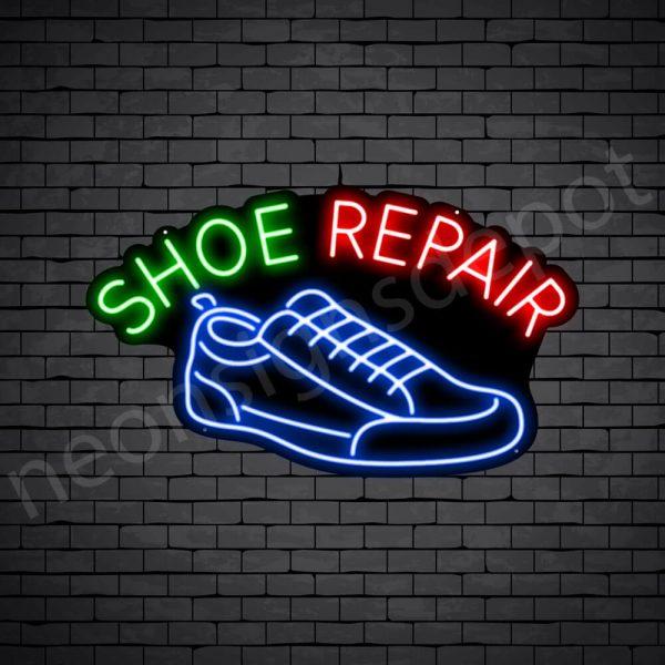 Shoe Repair Curve Neon Sign - Black
