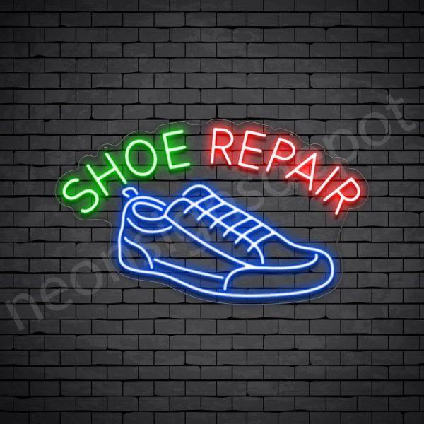 Shoe Repair Curve Neon Sign - Transparent