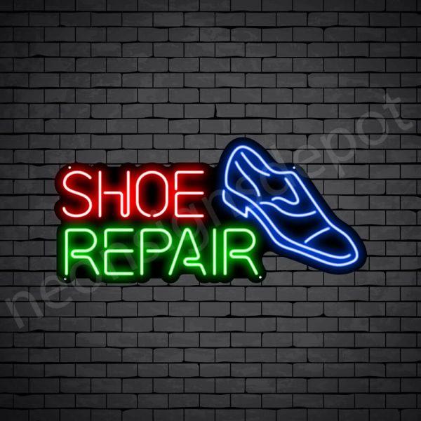 Shoe Repair Neon Sign - Black