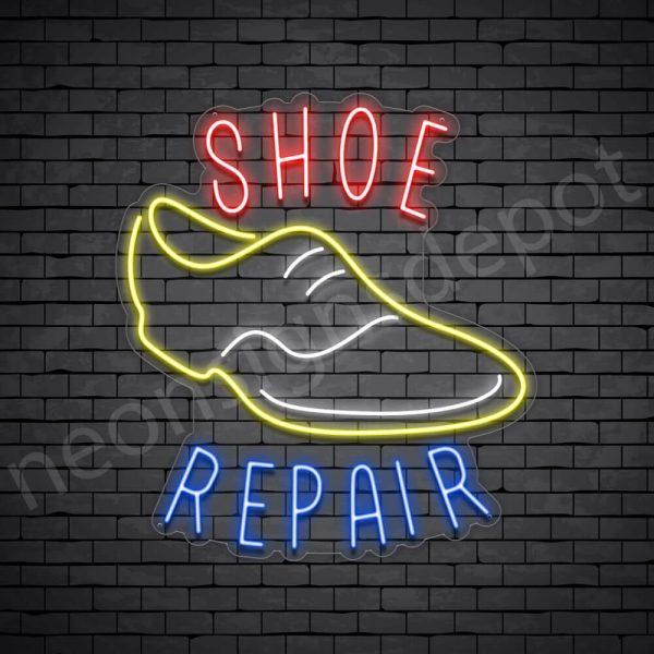 Shoe Repair Round Neon Sign - transparent