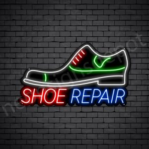 Shoe Repair Shop Neon Sign - Black