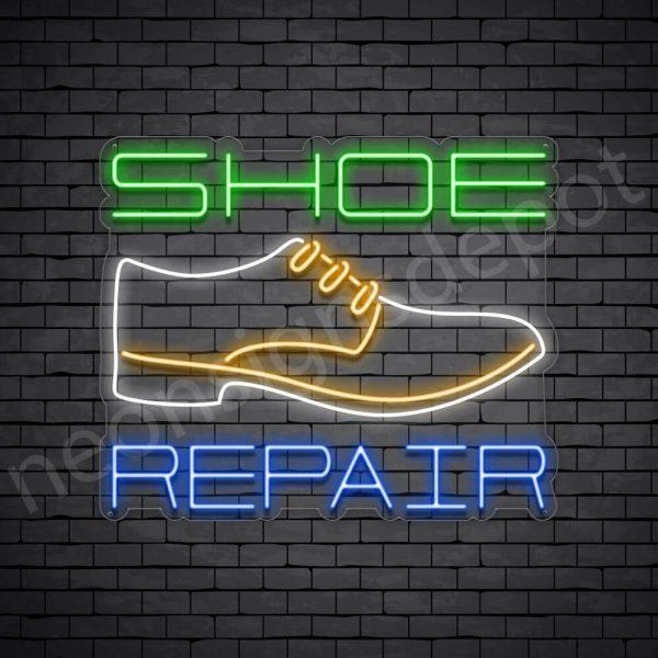 Shoe White Repair Neon Sign - Transparent