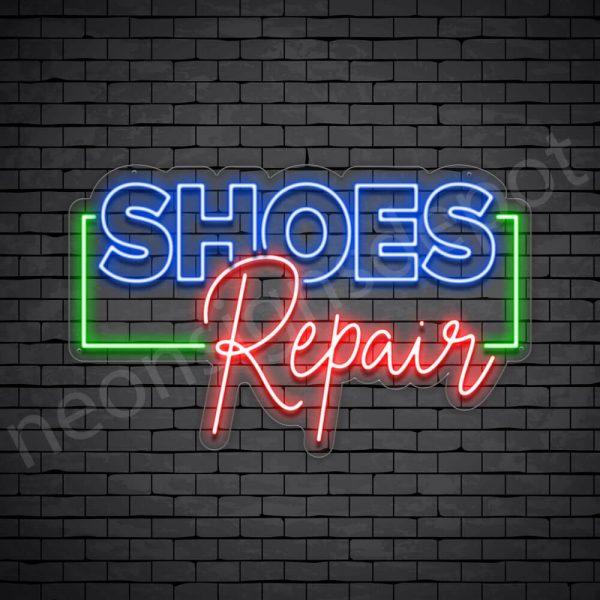 Shoes OL Repair Neon Sign - Transparent