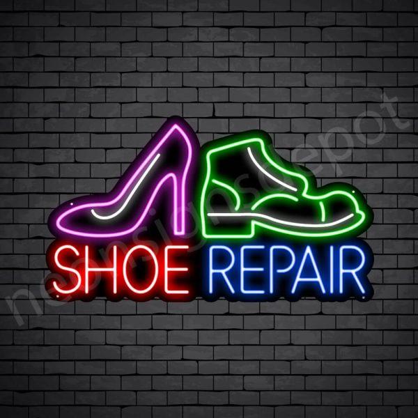 Shoes Repair Neon Sign - Black