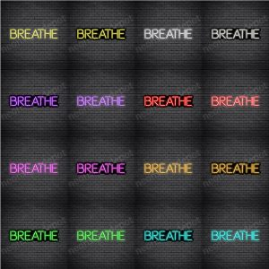 Breathe V5 Neon sign