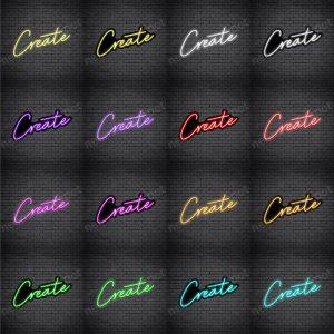 Create V3 Neon Sign