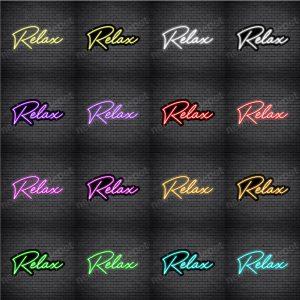 Relax V3 Neon Sign