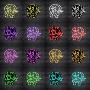 Beagles Dog V4 Neon Sign
