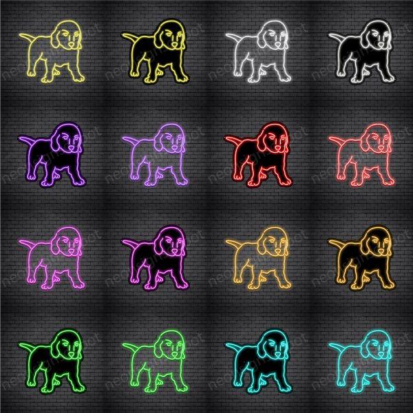 Labrador Retriever Dog V2 Neon Sign