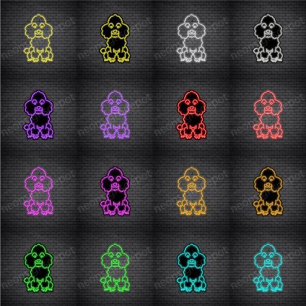 Poodle Dog V4 Neon Sign