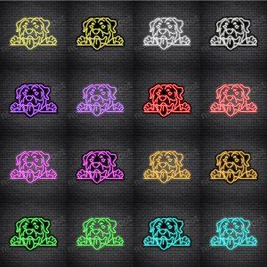 Rottweilers Dog V4 Neon Sign