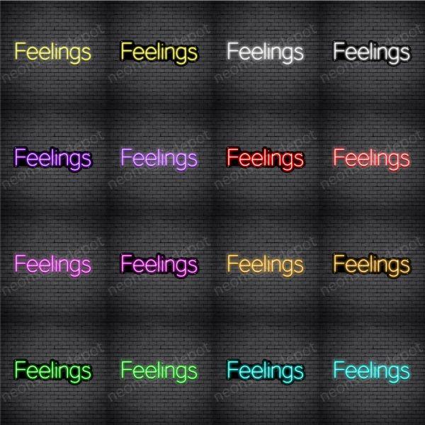 Feelings V2 Neon Sign