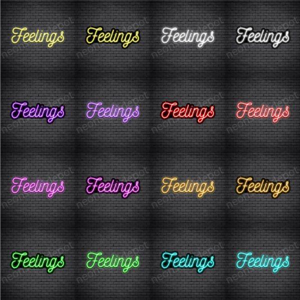 Feelings V3 Neon Sign