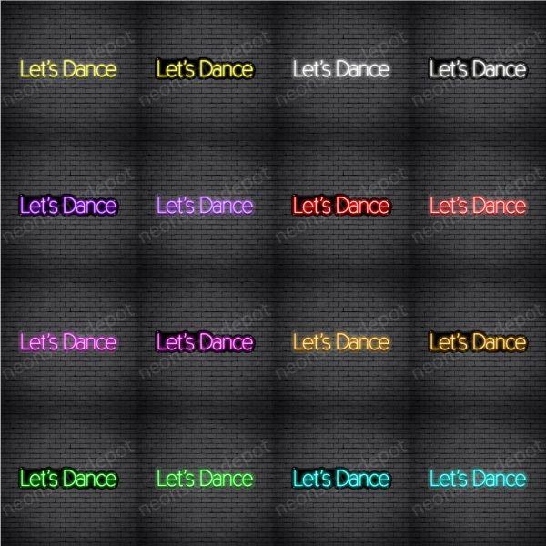 Let's Dance V4 Neon Sign