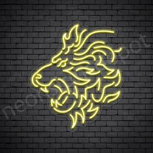 Lion Neon Sign