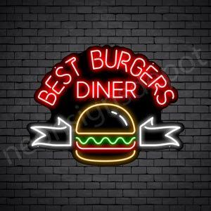 Best Burgers Diner Neon Sign