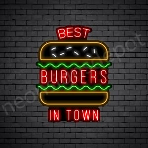 Best Burgers in Town Neon Sign