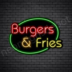 Burger & Fries Neon Sign