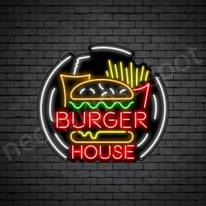 Burger House Neon Sign